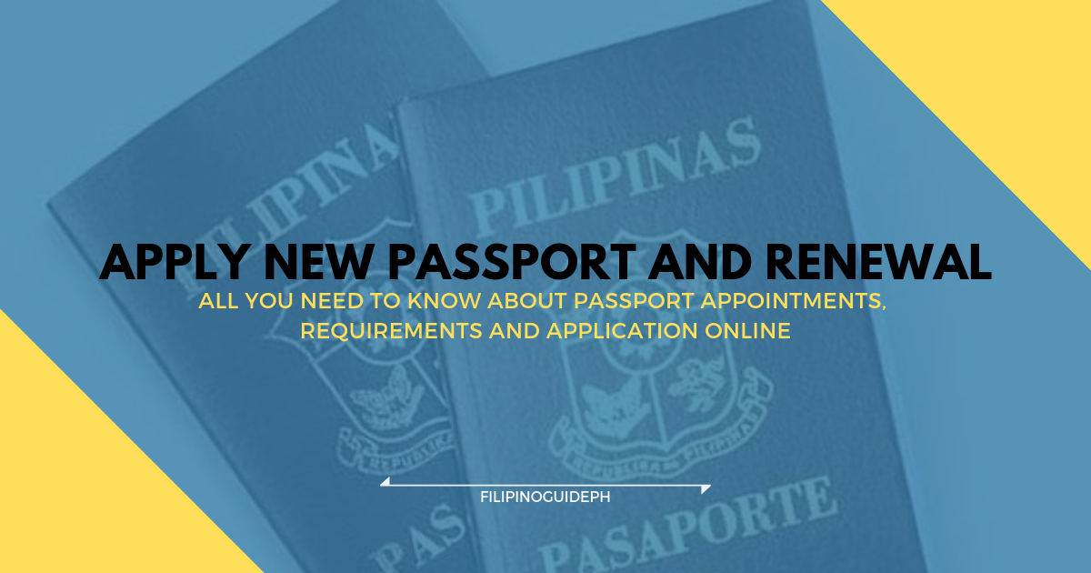 3383dc66820e How to Apply Philippine Passport - Appointments, Requirements and ...