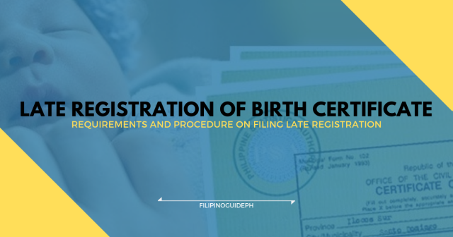 How to File for Late Registration of Birth Certificate
