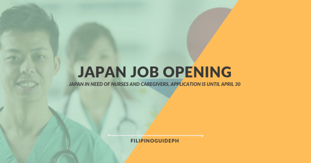 Japan in Need of Nurses and Caregivers, Application is Until April 30
