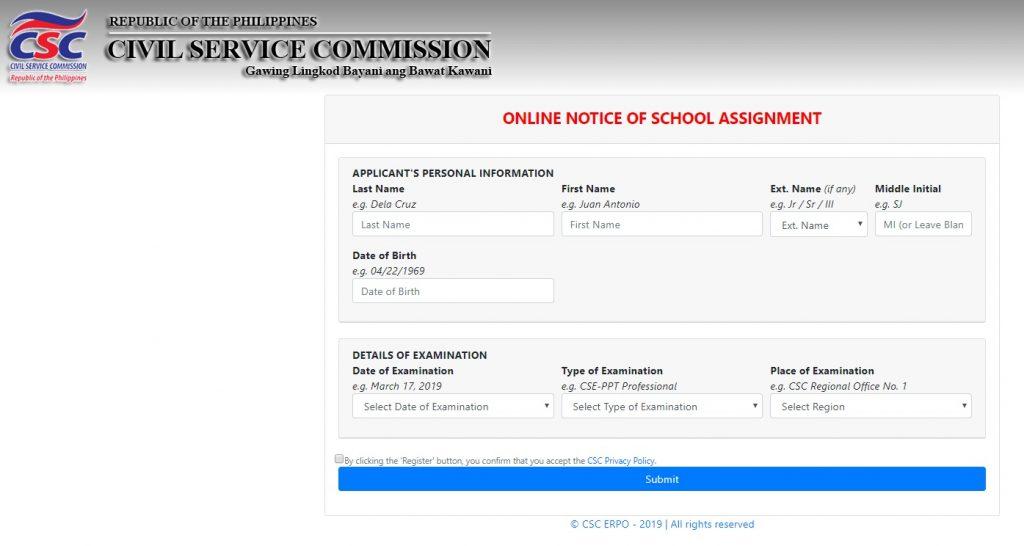 Online Notice of School Assignment (ONSA) 0