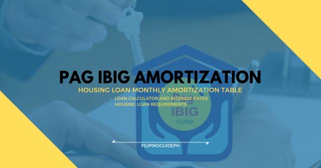 PAG IBIG AMORTIZATION