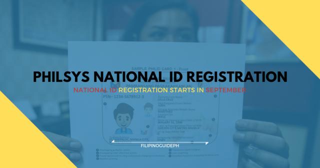PHILSYS NATIONAL ID REGISTRATION