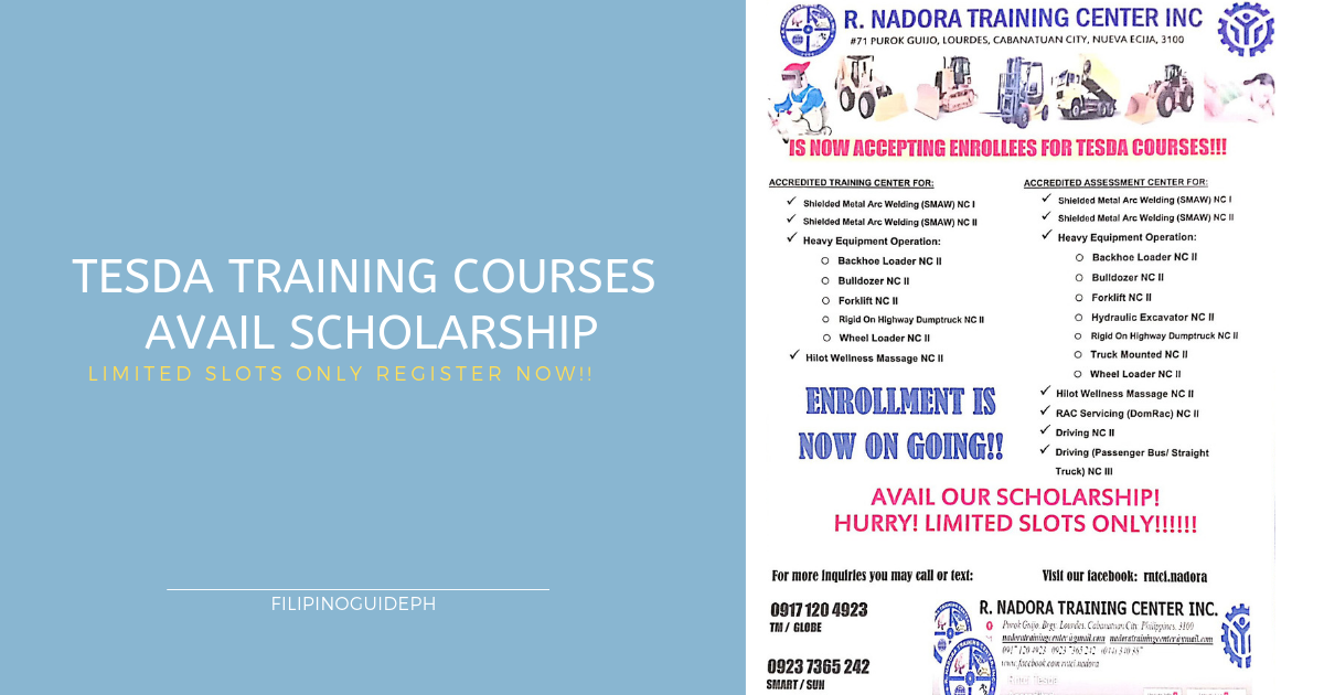 Tesda Courses is Now Available | Enroll Now and Avail