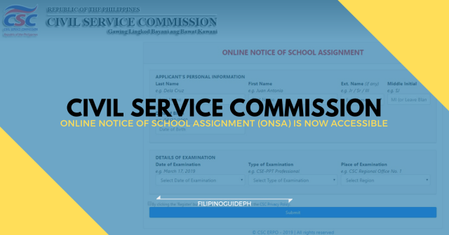 The Online Notice of School Assignment (ONSA) is now accessible