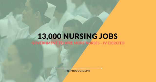 13,000 NURSING JOBS