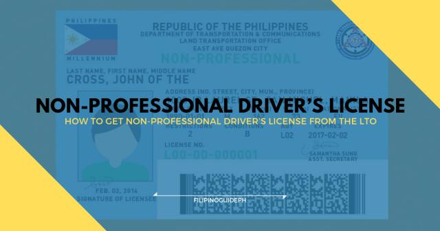 NON-PROFESSIONAL DRIVER'S LICENSE