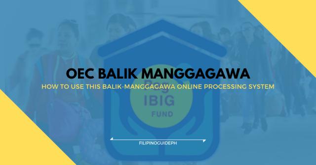 OEC Balik Manggagawa Online