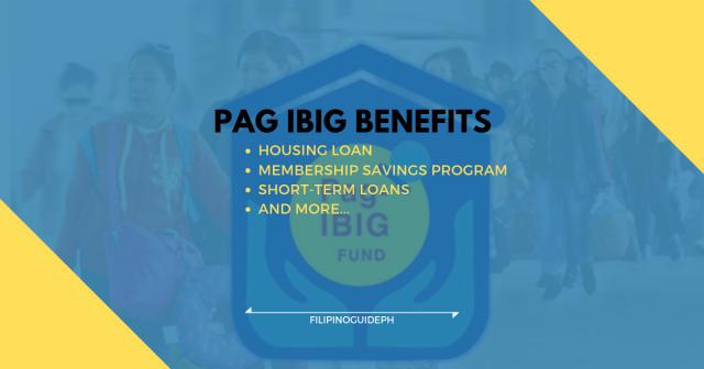 PAG IBIG BENEFITS