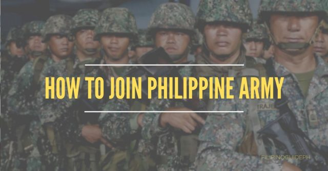 How to Join Philippine Army
