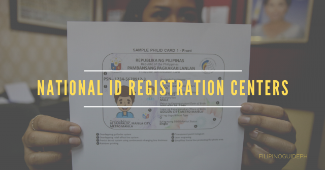NATIONAL ID REGISTRATION CENTERS