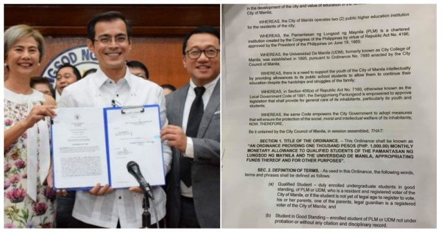 Mayor Isko Moreno to give Php1,000 Monetary Allowance